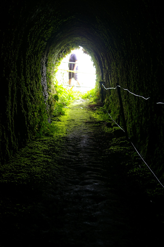 A tunnel runs through it (Green Mountain)