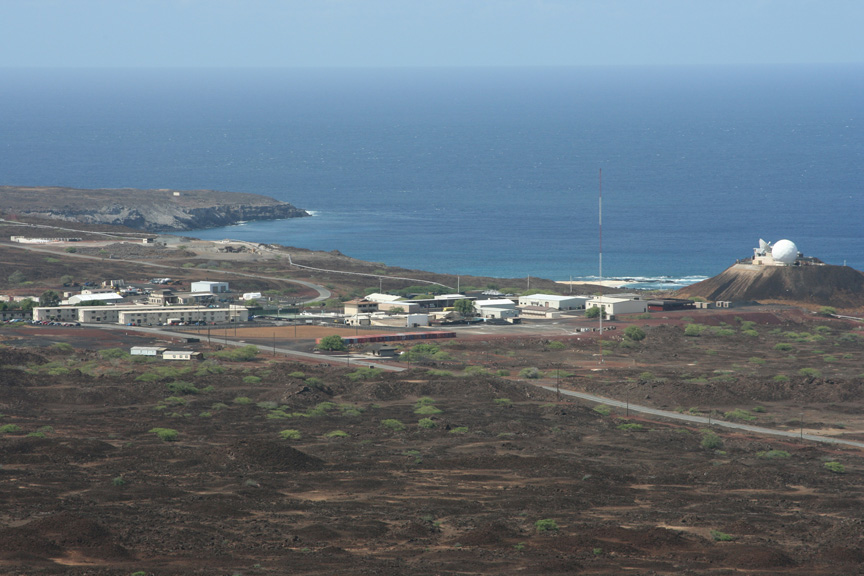 A distant view of Ascension Auxiliary Air Field