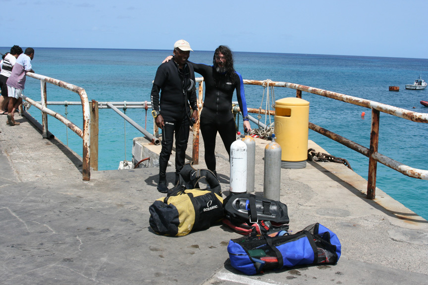 Jimmy and I after the dive