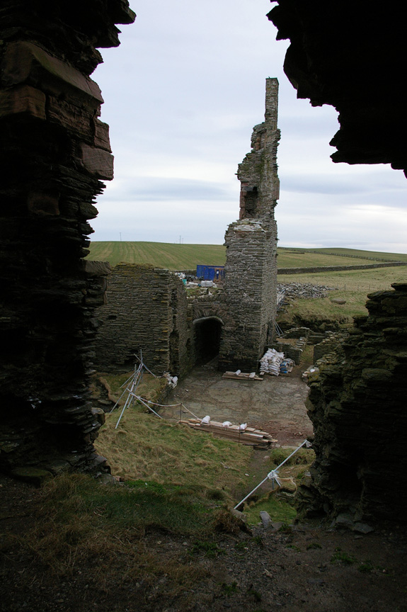Stabilized chimney at Castle Sinclair