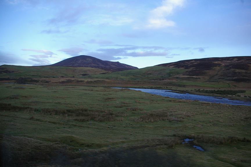 The Highland landscape is rather stark, especially in the early morning light