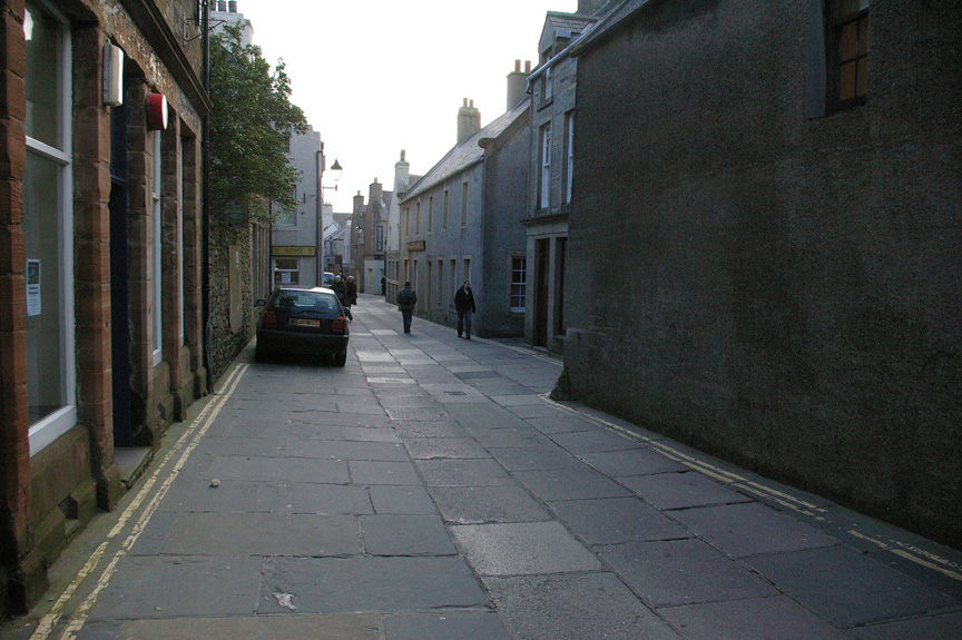 Kirkwall is full of modern development on medieval streets