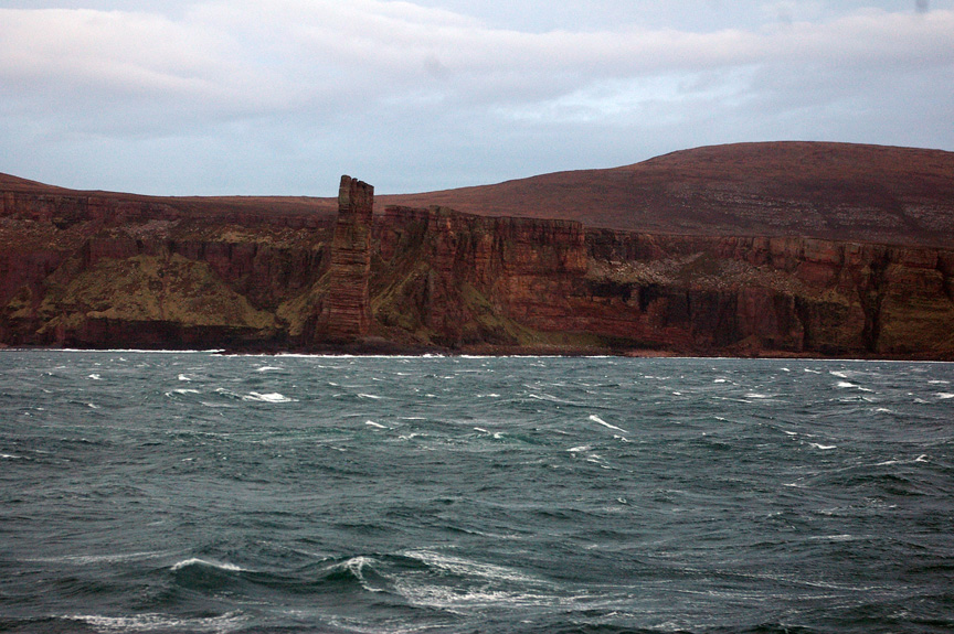 The Old Man of Hoy looks spectacular even in muted light