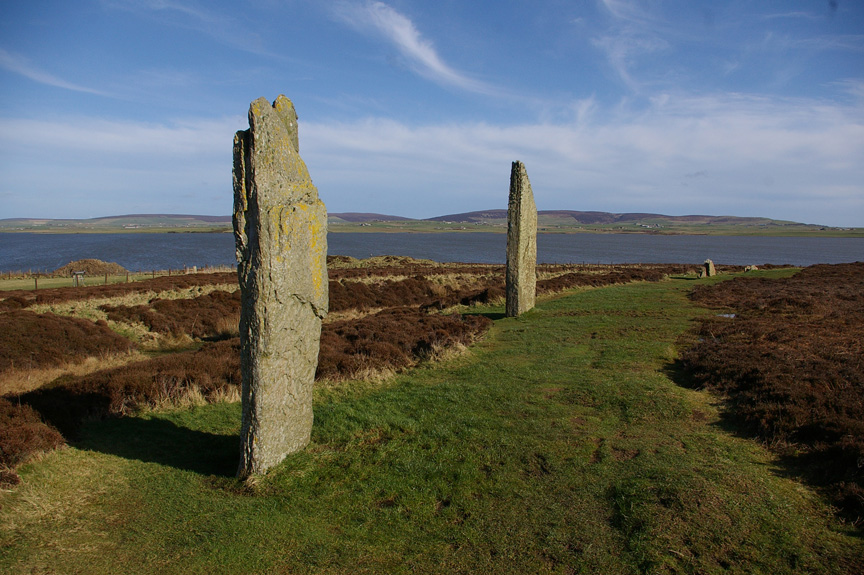 The Ring of Brodgar, with the Loch of Harray in the background