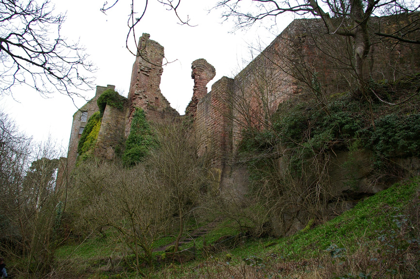 Rosslyn Castle looms over the adjacent glen