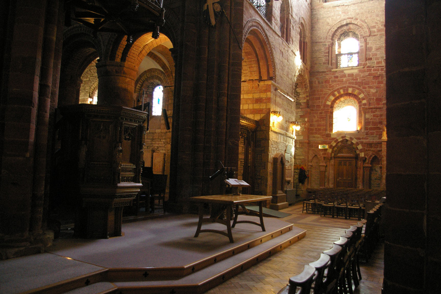 The transept of St. Magnus Cathedral