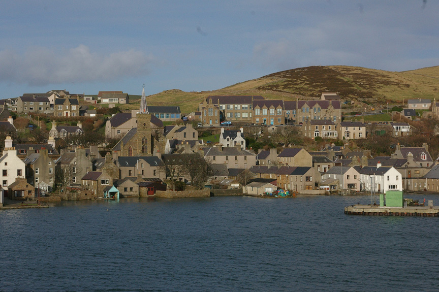 Stromness rises above Hoy Sound