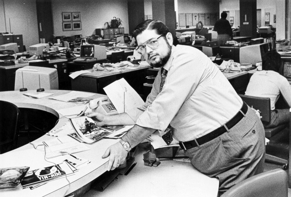 George M. Lawrence on the copy desk of The (Shreveport, La.) Times
